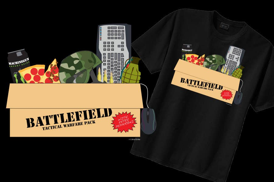 Proposition n°                                        10                                      du concours                                         Battlefield Tactical Warfare Pack [Gaming] T-shirt Design