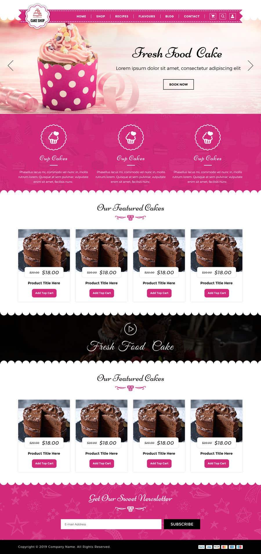 Konkurrenceindlæg #8 for E-commerce site for cake shop