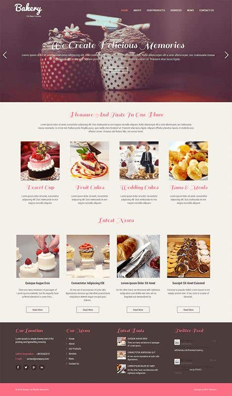 Proposition n°2 du concours E-commerce site for cake shop