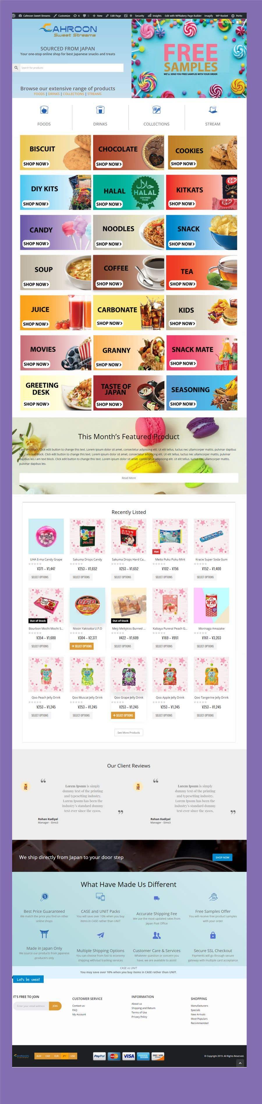 Inscrição nº 12 do Concurso para E-commerce site for cake shop