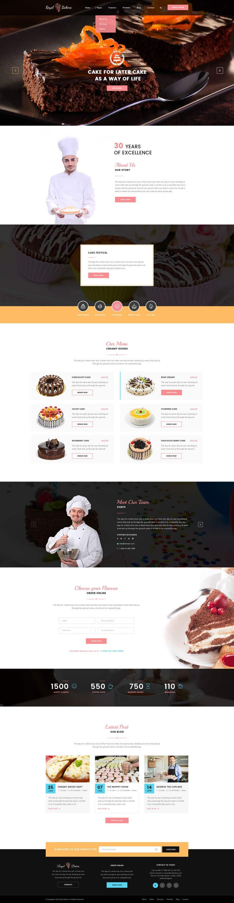 Konkurrenceindlæg #5 for E-commerce site for cake shop