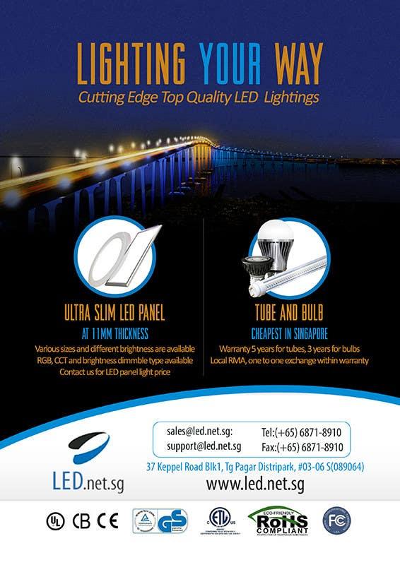 Kilpailutyö #                                        6                                      kilpailussa                                         Advertisement Design for LED lighting products.