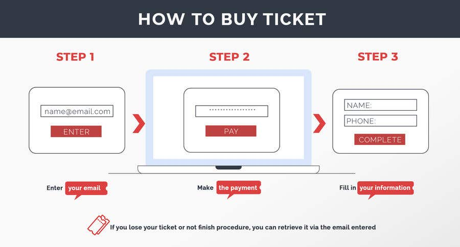 Proposition n°120 du concours Create Illustration about method for buy a ticket