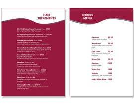 "niamelia님에 의한 Create a double sided ""Treatment"" & ""Drinks"" menu을(를) 위한 #5"