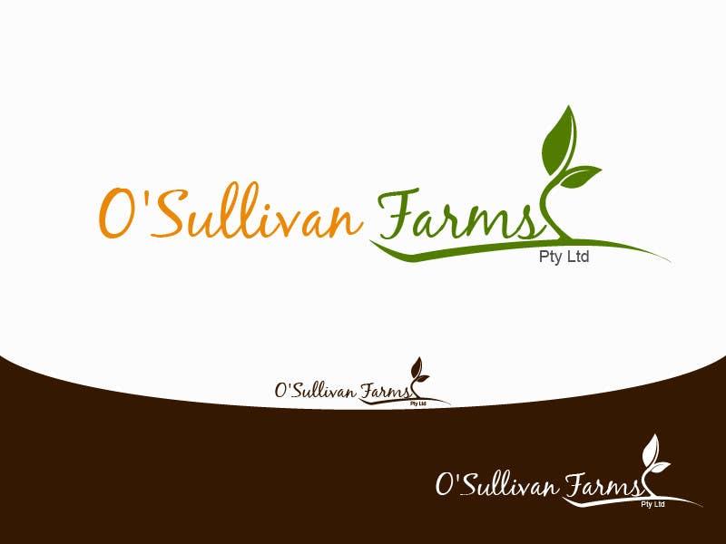 Kilpailutyö #                                        88                                      kilpailussa                                         Logo Design for O'Sullivan Farms