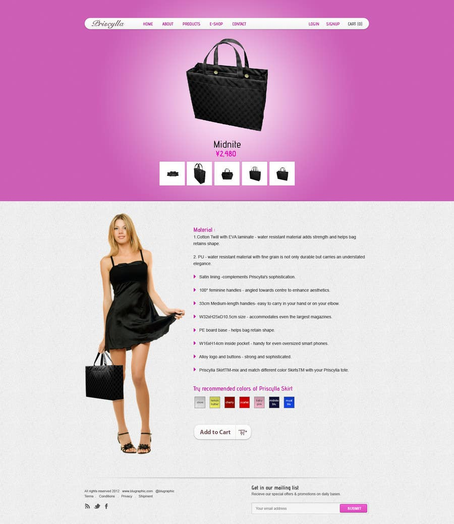#15 for Website Design for Women's Tote Bags by tania06