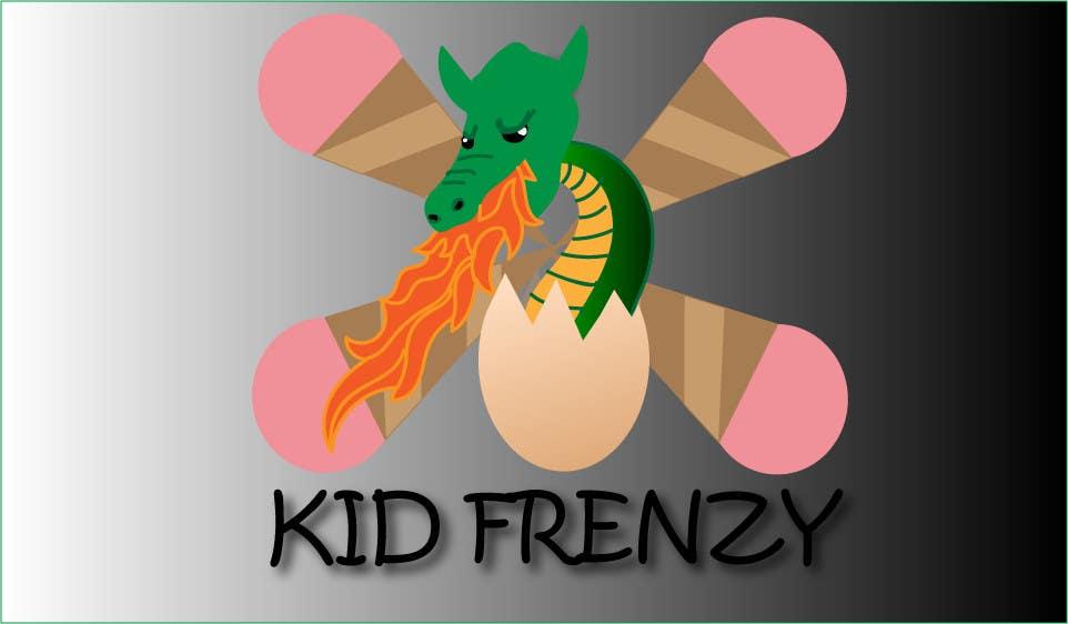"Proposition n°                                        2                                      du concours                                         Design a Logo for ""Kid Frenzey"""