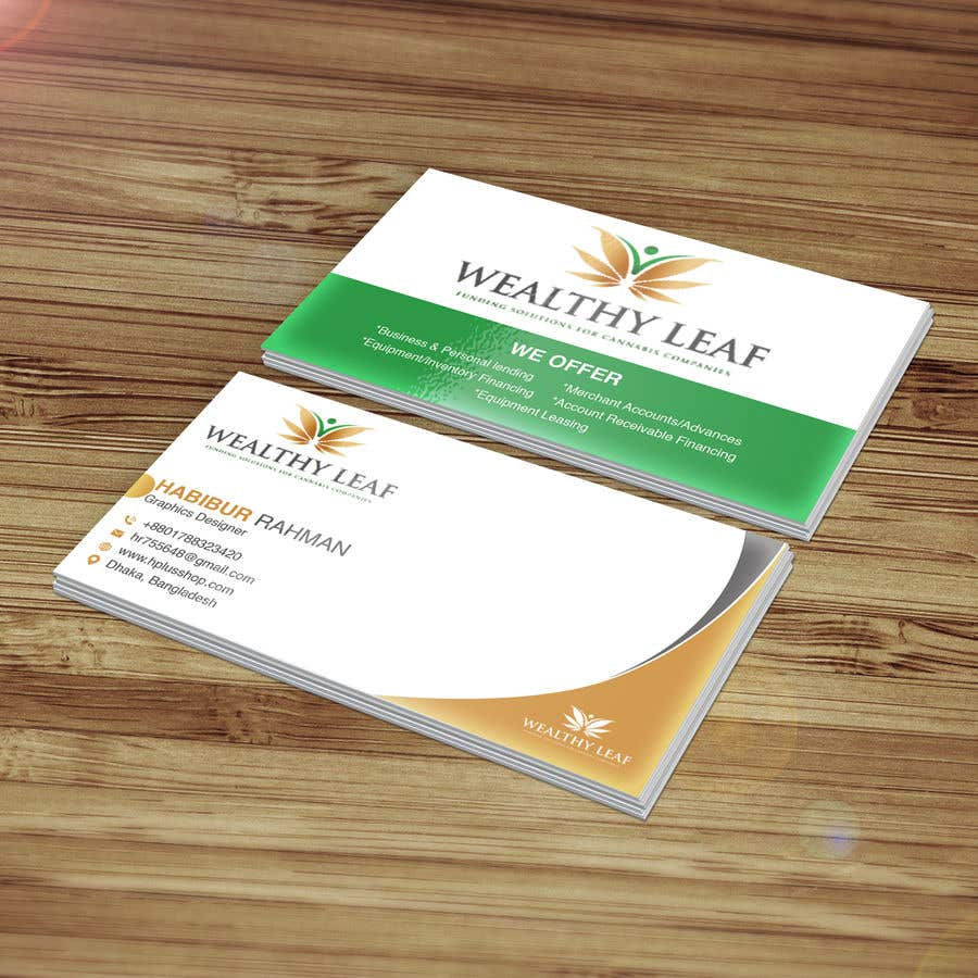 Proposition n°71 du concours Wealthy Leaf needs business cards