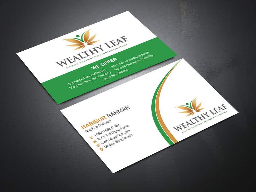 Proposition n°75 du concours Wealthy Leaf needs business cards