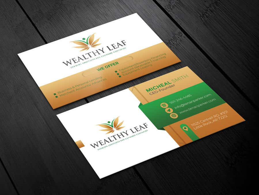 Proposition n°51 du concours Wealthy Leaf needs business cards