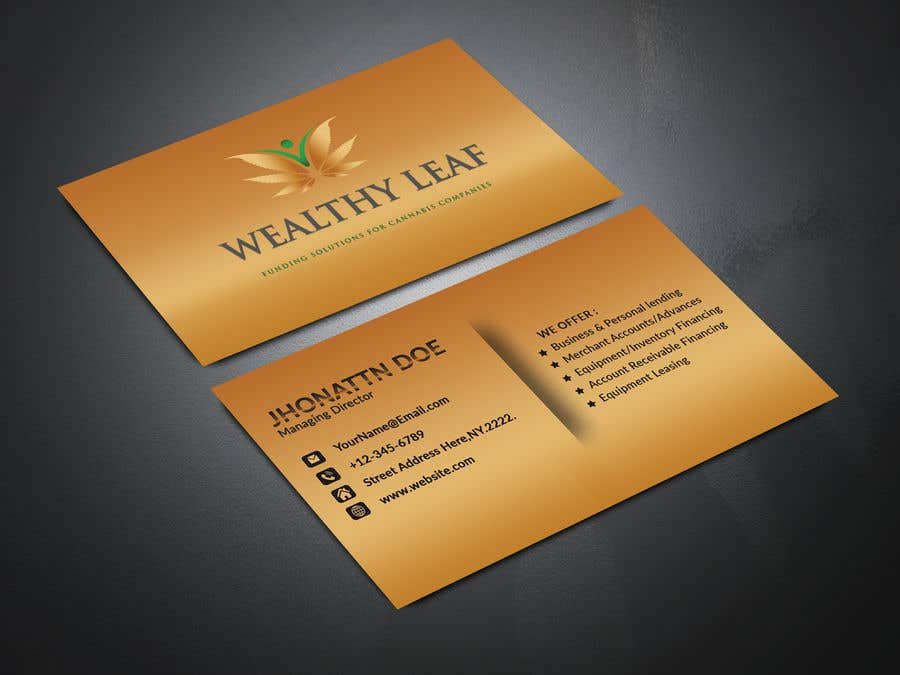 Proposition n°255 du concours Wealthy Leaf needs business cards