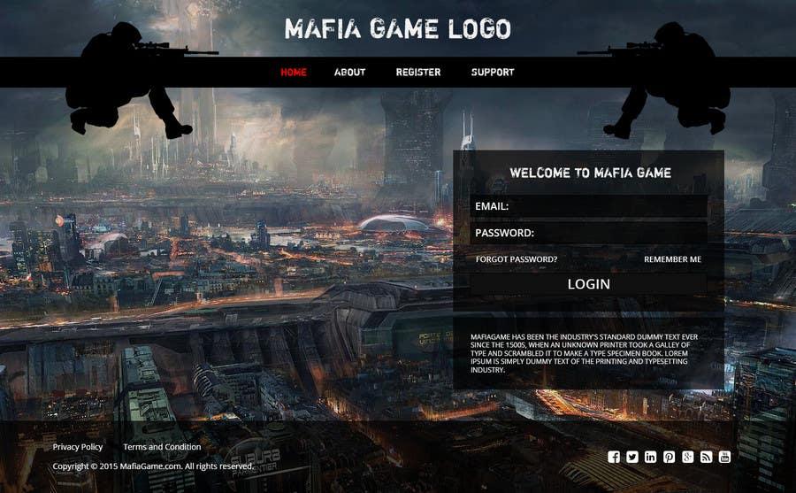 Penyertaan Peraduan #                                        15                                      untuk                                         Mafia Game website homepage design