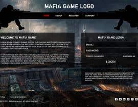 #16 untuk Mafia Game website homepage design oleh Ankur0312