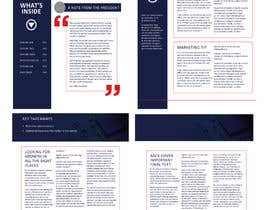 #18 for Change a newsletter template from a paper-based spread to single-page layout af mdabdullah913