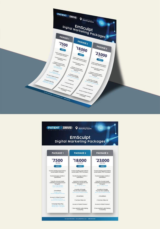 Конкурсная заявка №17 для Flyer Design - Digital Marketing Package Comparison
