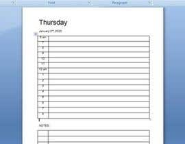 #20 for Create daily planner in MS word for 2020 by rubelahmad10