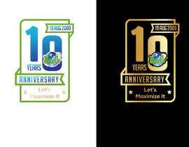 #90 untuk 10th Anniversary Logo oleh romeorider97