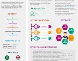 #140 pentru Graphic design for Executive Bio and Resume de către FALL3N0005000