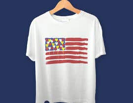 "#203 untuk T-Shirt Design ""US Flag with Bleeding Hearts - Brushed Painted"" oleh mrk1designs"
