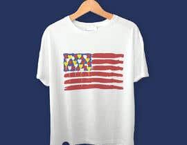 "mrk1designs tarafından T-Shirt Design ""US Flag with Bleeding Hearts - Brushed Painted"" için no 203"