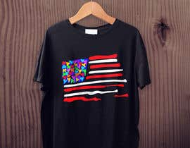 "#119 untuk T-Shirt Design ""US Flag with Bleeding Hearts - Brushed Painted"" oleh AllyHelmyy"