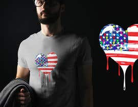 "#126 untuk T-Shirt Design ""US Flag with Bleeding Hearts - Brushed Painted"" oleh AllyHelmyy"