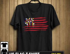 "#240 untuk T-Shirt Design ""US Flag with Bleeding Hearts - Brushed Painted"" oleh PixelDesign24"