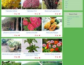 #1 untuk Create website mockup design for plant nursery Nursery oleh jahansher8