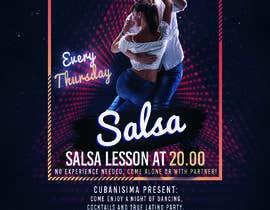 Nro 73 kilpailuun Design flyer/poster for salsa events käyttäjältä vixorezo