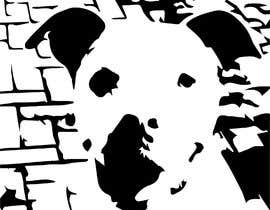 Ozamah tarafından Caricature of a dog's face in a vector image with black lines only için no 1