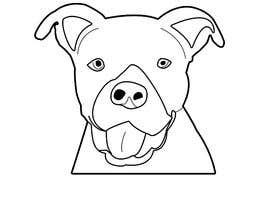 nijumofficial tarafından Caricature of a dog's face in a vector image with black lines only için no 7