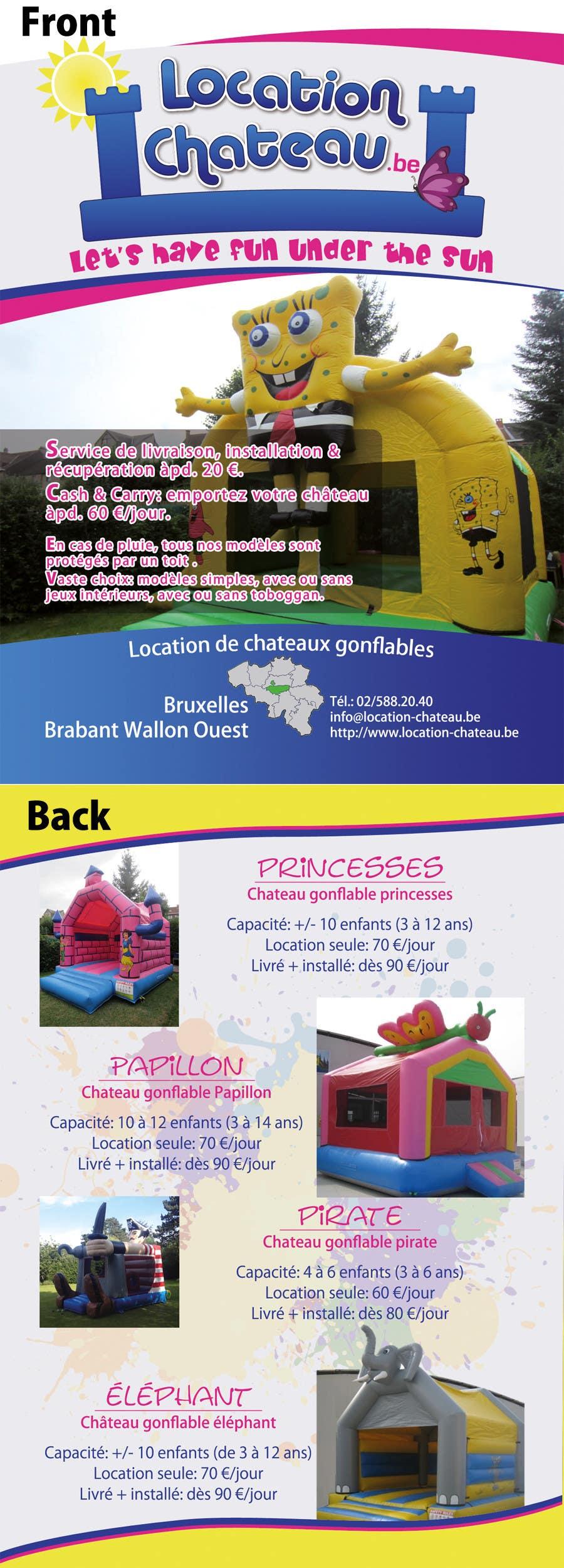 Bài tham dự cuộc thi #                                        16                                      cho                                         Flyer Design for Inflatable castle rental
