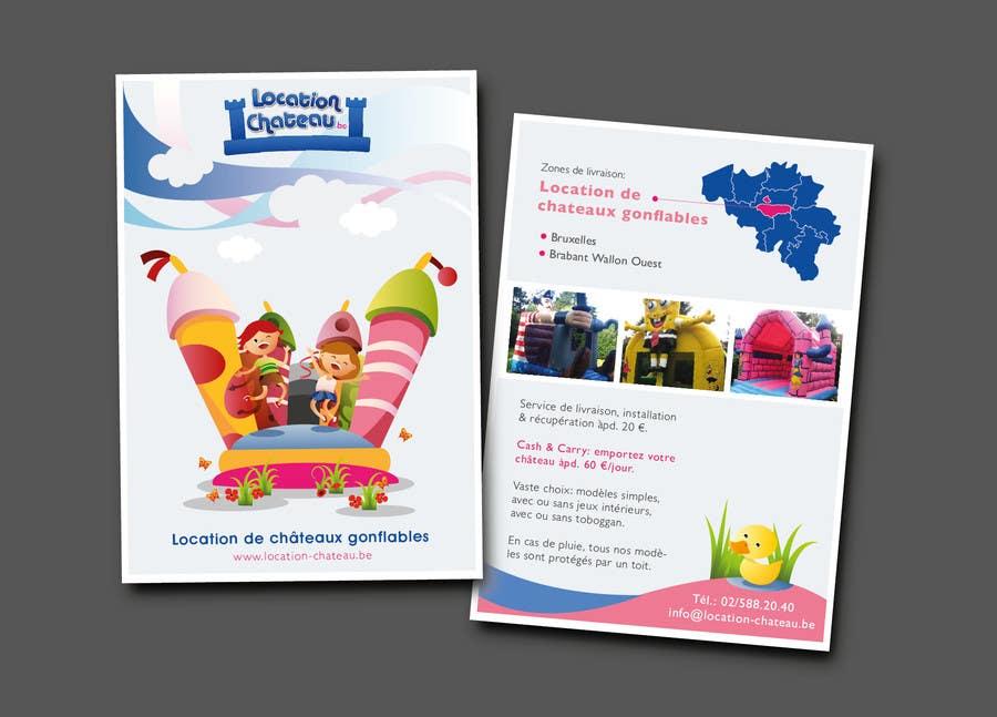 Bài tham dự cuộc thi #                                        30                                      cho                                         Flyer Design for Inflatable castle rental