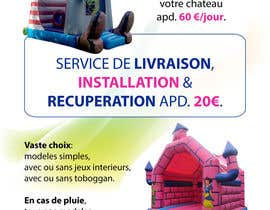#21 untuk Flyer Design for Inflatable castle rental oleh theDesignerz