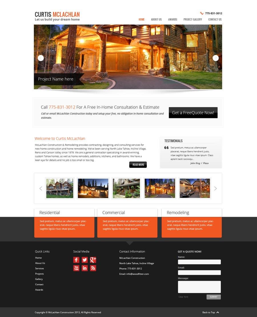 Konkurrenceindlæg #                                        4                                      for                                         Website Redesign for Upscale Building Contractor