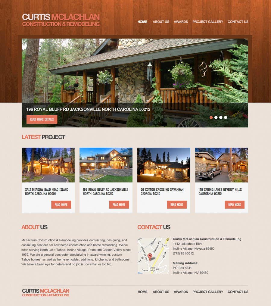 Konkurrenceindlæg #                                        16                                      for                                         Website Redesign for Upscale Building Contractor