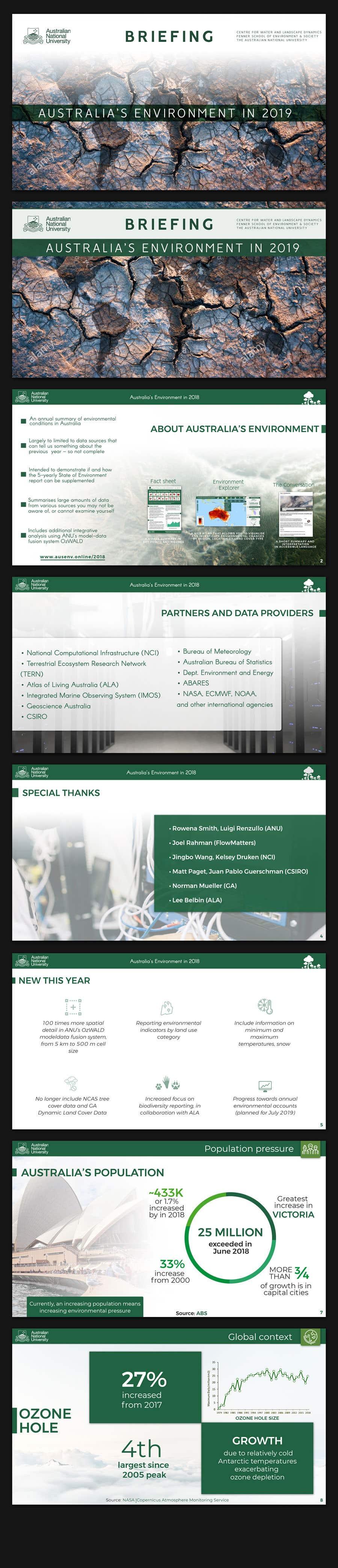 Kilpailutyö #105 kilpailussa Design/branding of Australia's Environment report