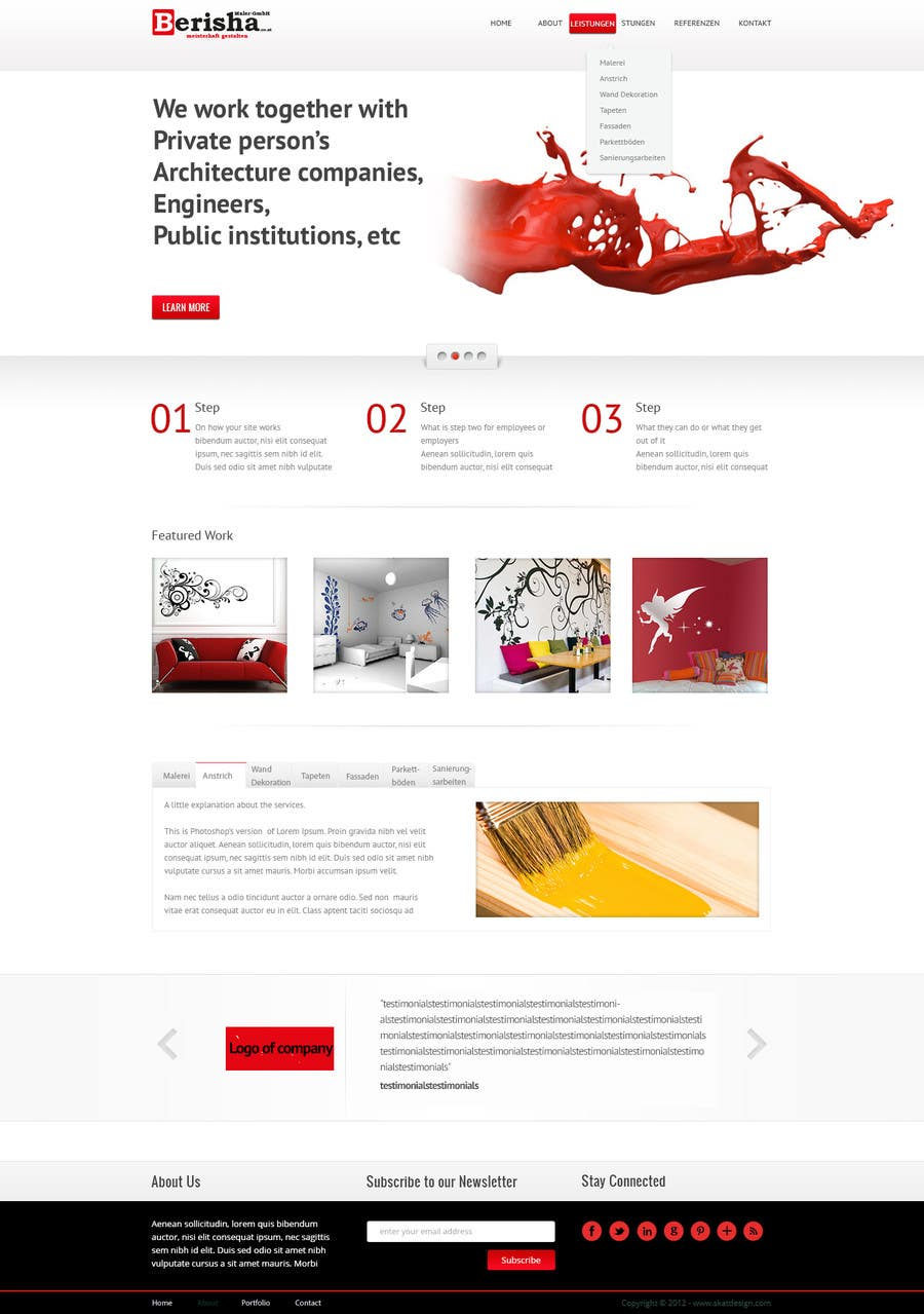 #4 for Website Design and programming for Painter Company by Alexw1