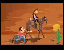 #11 for Cartoon image of professor riding into sunset ignoring a graduate student by djamolidin