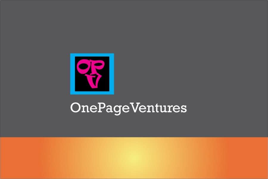 Inscrição nº                                         3                                      do Concurso para                                         Logo Design for OnePageVentures - start up company