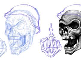 #32 for Illustrate a Biker Skull with a Helmet af rli5903e7bdaf196