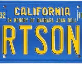 #4 pentru Digital Image of a License Plate de către JuliaB89