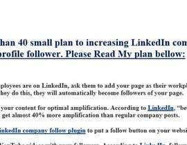 asmrsaeed tarafından Create a plan for increasing LinkedIn followers of company page için no 5