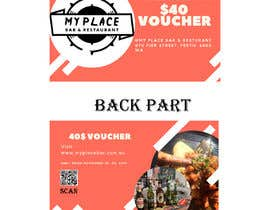 #10 для design a voucher $40 with barcode or qr от Zabiralnahian