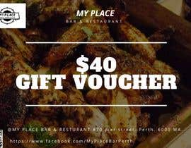 #14 для design a voucher $40 with barcode or qr от Zabiralnahian