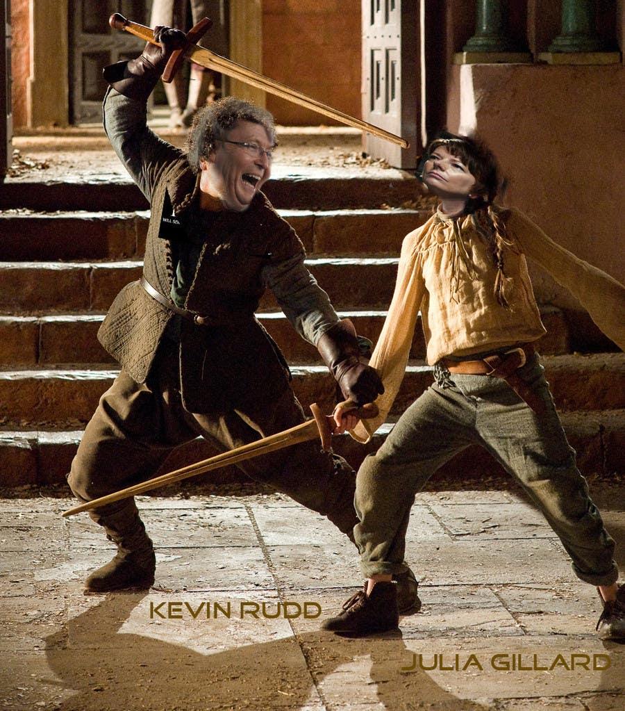 Penyertaan Peraduan #110 untuk Photoshop Aussie Politicians into Game of Thrones Mashup