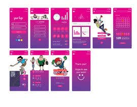 #19 cho UX UI design for gym members / Fitness app bởi miraz6600
