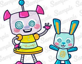 #111 for Create a cartoon character of Robot Girl with pet by Serapret