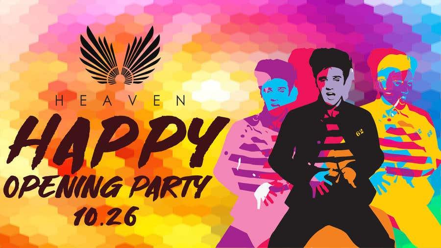 """Kilpailutyö #48 kilpailussa """"Happy"""" party events creative concept - facebook cover"""
