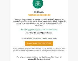 Nro 49 kilpailuun Welcome E-Mail Design - UI/UX Designer käyttäjältä taslimatoma